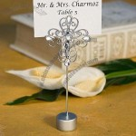 Decorative Cross Design Place Card Holder Favors