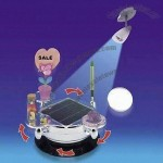 Decorative Solar POP Display Turner with Four Removable Turntables