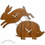 Decoy Lab Bamboo Animal Clocks Keep Time in Eco Style