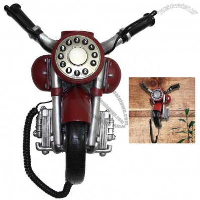 Delicate Motorcycle Shaped Corded Wall Telephones