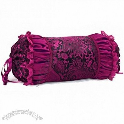 Delicate Pillow Bolster Travelling Pillow For Car Purple