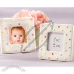 Delightfully Dotted Ceramic Polka-Dot Photo Frame
