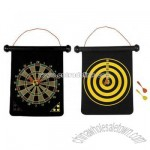 Deluxe 2-sided dart board set