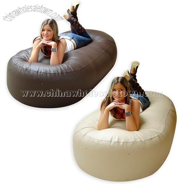 Deluxe 6ft Bean Bag Sofa Bed Faux Leathe