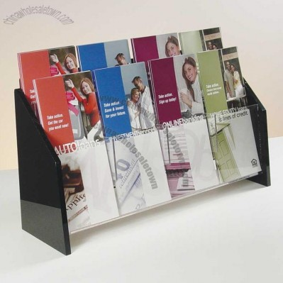 Deluxe 8-pocket Brochure Holder - Countertop/Wall