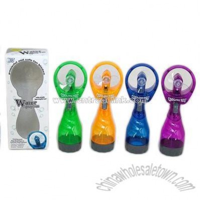 Deluxe Battery-Operated Handheld Water-Misting Fan