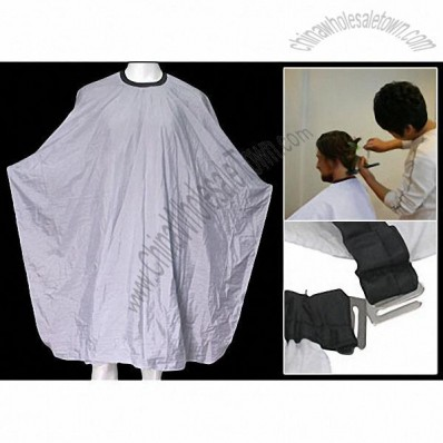 Deluxe White Barber Hair Cutting Cape Hairdressing Gown