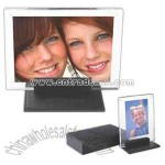 Deluxe black bonded Leather photo frame