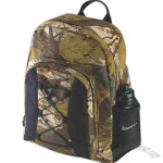 Deluxe hunting backpack with mesh pocket and padded shoulder strap.