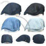 Denim Cabbie Cap Gatsby Flat Hat Ivy Caps Irish Newsboy Hats