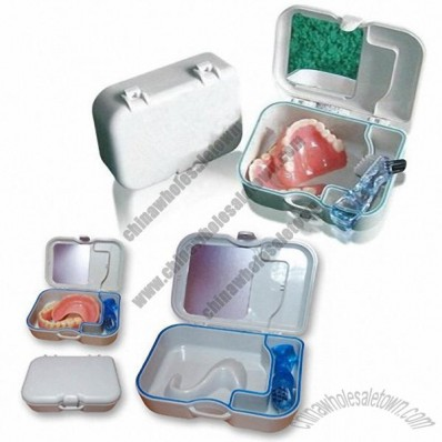 Dentures Box with Denture Cleaning Brush