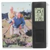 Desk Calendar Clock with 4 x 6 Photo Frame