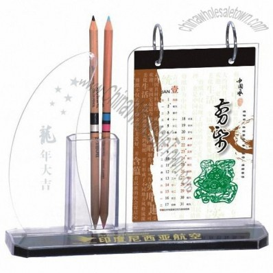 Desk Calendar and Pen Holder