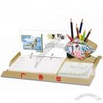 Desk Calendar with Pen Container and Memo Holder