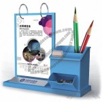 Desk Calendar with Pen Holder Desk Organizer
