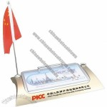 Desk Calendar with Pen Holder and Flag Stand