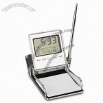 Desk Clock and Pen Stand Memo Holder
