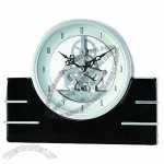 Desk Clock with Skeleton Movement, Coin shape, Elegant, Fashion, Suitable for Gifts and Decoration