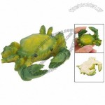 Desk Ornament Green Yellow Ceramic Artificial Crab Toy