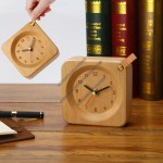 Desk Wooden Clock with Hook