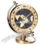 Desk clock with solid brass case