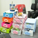 Desktop Cosmetic Stationery Storage Cabinets