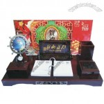 Desktop Gift Set wtih Mini Tellurion and Calendar and Pen Holder