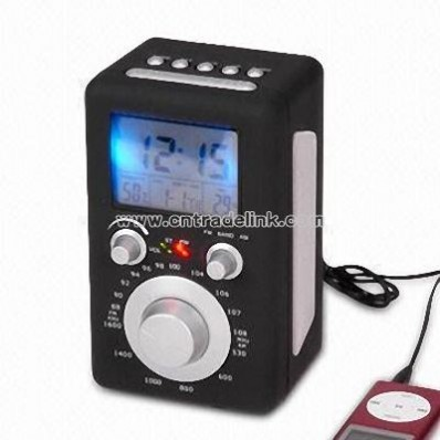Desktop Radio with Speaker and Time Control Function