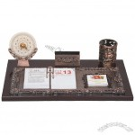Desktop Stationery Set Pen Holder, Name Card Holder, Calendar, Memo