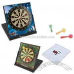Desktop darts with folding magnetic dart board game with 3 magnetic darts