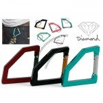 Diamond Carabiner Rock Keychain