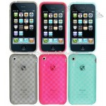 Diamond Design Crystal Silicon Skin Case for iPhone 3G/3GS