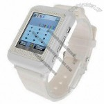 Diamond Encrusted Watch Mobile Phone with Camera, Bluetooth, FM, Touch Screen