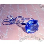 Diamond Keychain - Round Blue