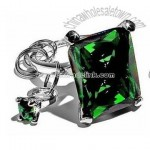 Diamond Keychain - Square Green