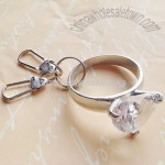 Diamond Keychain-Clear Heart-Shaped