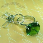 Diamond Keychain-Round Green