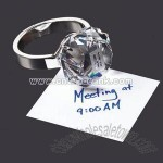 Diamond ring shape crystal paperweight