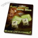 Dice glows in the dark