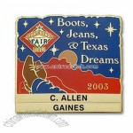 Die Struck Brass Name Badge