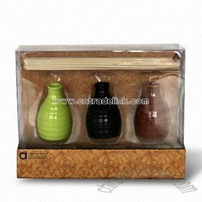 Diffuser Oil with Bamboo Incense Stick Set