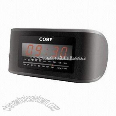 Digital AM/FM Alarm Clock Radio with LED Display