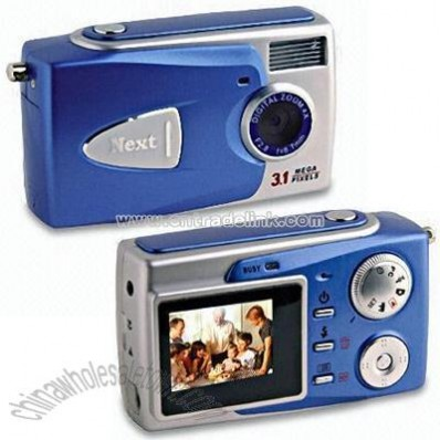 Digital Camera with LCD and Voice Recorder