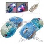 Digital Color USB Optical Wheel Ocean Blue Computer Mouse