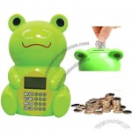 Digital Frog Shape Coin Counter Money Bank