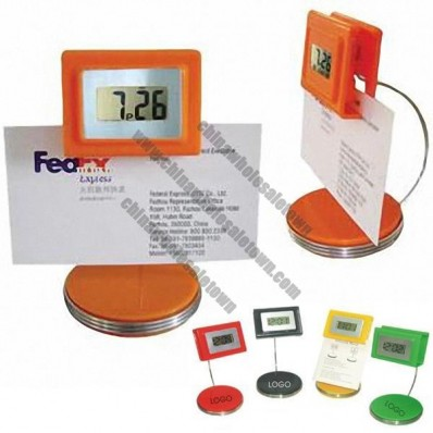 Digital LCD Clock with Memo Holder