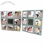 Digital LCD Table Clock with 8 Photo Frame