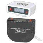 Digital LCD pedometer with clock and 12/24 hour clock feature