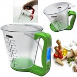 Digital Measuring Cup Scale with LCD Display Temperature & Weight