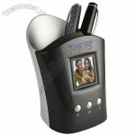 Digital Photo Viewer Pen Cup/Cell Phone Holder
